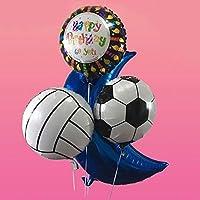 Comaie Folien Ballon Spielzeug Kindergeburtstags Party Geschenke 18inch Aluminiumballone 10pcs Helium Ball Thema Dekoration im Freiendekorationen Basketball Volleyball Fußball Form Feier