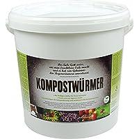 KOMPOSTWÜRMER - Kompost-Starter Regenwürmer - Eisenia Kompostwurm lebend aktiv - Würmer für Garten & Kompostierung Kompost Komposter Wurmkomposter Wurmkiste Wurmfarm Komposttoilette, Anzahl/ Variante:1000 Stück in Sack