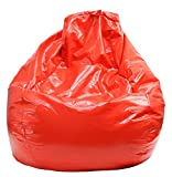 Gold Medal Bean Bags Tear Drop Wet Look Vinyl Bean Bag Large Red