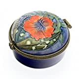 Old Tupton Ware - Hibiscus Design - Small hinged round trinket box