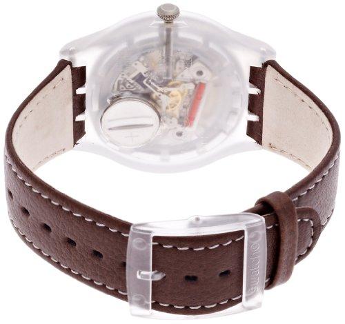 Swatch Unisex-Armbanduhr Classic Analog Quarz Leder SUOK701 -