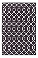 Green Decore Lightweight Indoor/Outdoor Reversible Plastic Rug Valencia Coco Brown \ Ivory - 3x5 ft (90 x 150cm), Coco Brown/Ivory by Green Decore