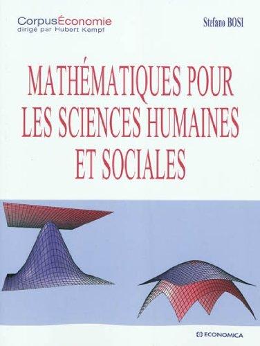 Mathématiques pour les sciences humaines et sociales