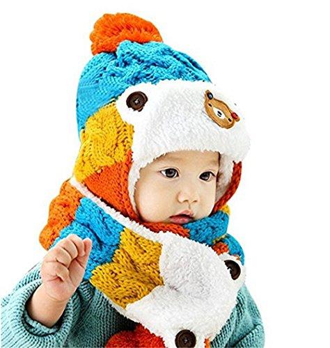 awanna-unisex-strickmutze-mit-schal-2-stucke-set-haube-beanie-mutze-fur-baby-kinderblau