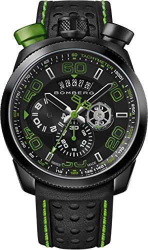 Bomberg Orologio Cronografo Quarzo Uomo con Cinturino in Pelle BS45.013