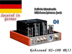 Nobsound MS-10D MKII amplificateur à tube avec Bluetooth / USB / casque HIFI Verstärker