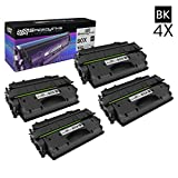 SpeedyInks™ NEW VERSION Compatible Replacements for HP CF280X (HP 80X) 4PK HY Black Toner Cartridges for Laserjet Pro 400 M401dn, 400 M401dne, 400 M401dw, 400 M401n & 400 M425dn