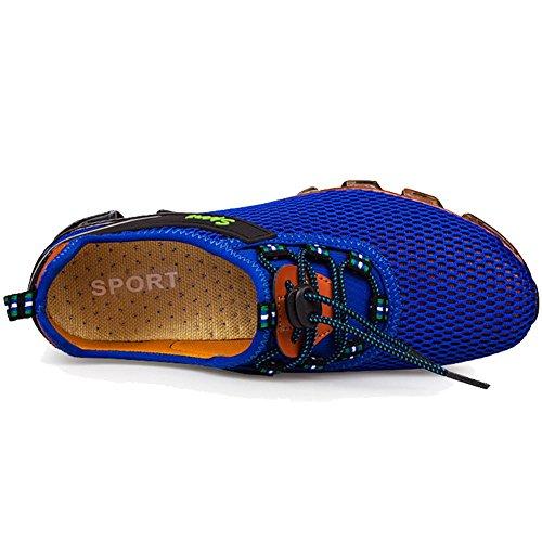 Qiucdz Herren Sneaker Herren Breathable Lightweight Dämpfung Walking Sneaker Klettern Jogger Schuhe Königsblau