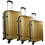 1 Valise taille moyenne ZIFEL A-048 GOLD 61 cm