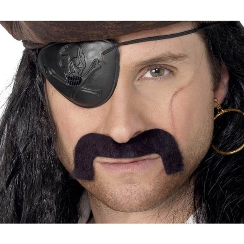 Costumes For All Occasions CB58 Pirate Mustache Black