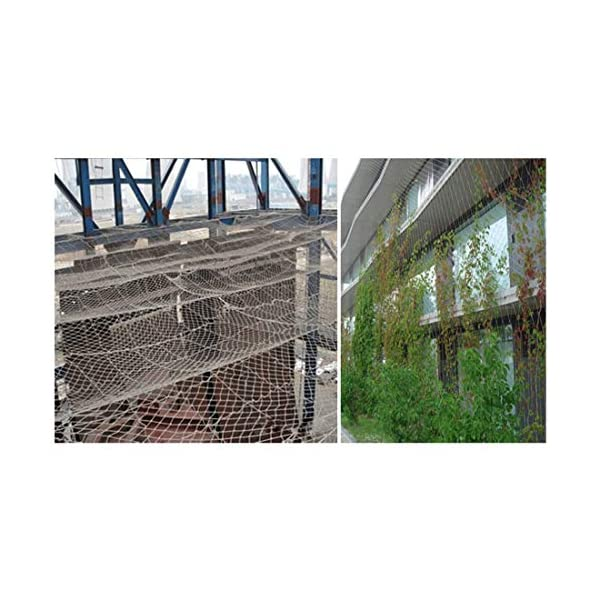 """Stairway Net - Baby Safety Rail Nets Goal for Soccer Heavy Duty Trellis Netting for Climbing Plants White 6mm/10cm (Size : 10x10m) Hwt's net ▲Multi-purpose protection net: family balcony and railing balcony stairs safety net railing stairs anti-cat climbing, anti-fall and other enhanced protection; wall, home, theme party hotel, hotel, cafe, bookstore, restaurant, decoration, hanging, etc. ▲Child safety net size * rope diameter: 10cm * 6mm (4 """"* 15/64) length * width: please purchase according to your actual needs. We have any other size (rope diameter, mesh, length * width) rope net, Support customization. If you have any questions or needs, please contact us. ▲Safety net material: made of nylon braided rope, hand-tightened. It has beautiful colors and economical sun protection. Suitable for all kinds of interior decoration, anti-fall and protection. 7"""