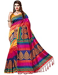 Premium Choice Women's Mysore Art Silk Saree With Blouse Piece(NSTASSELMULTI_Multi)