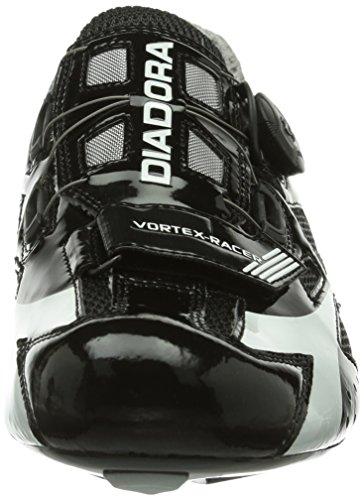 Diadora VORTEX Racer Unisex-Erwachsene Radsportschuhe - Rennrad Schwarz (schwarz/weiß 6410)