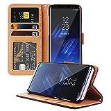 Samsung Galaxy S8 Hülle, ViViSun Wallet Ledertasche mit Standfunktion und Karte Halter Schutzhülle Tasche für Samsung Galaxy S8
