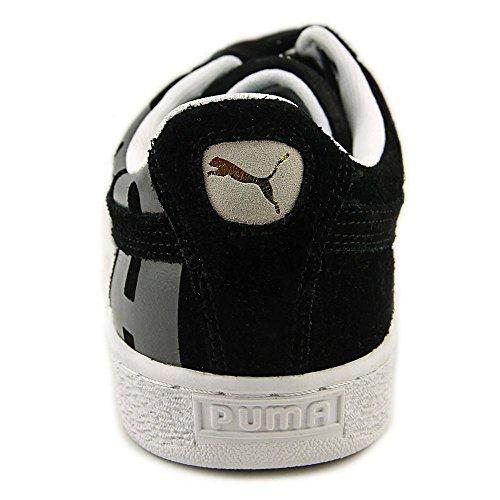 Puma Suede Classic + Big Logo Wildleder Turnschuhe Black/Asphalt/White
