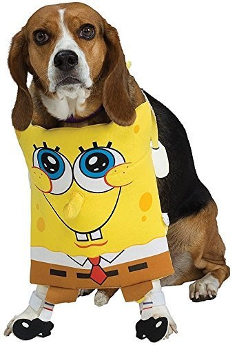 Fancy Me Haustier Hund Katze Tier Spongebob Squarepants Halloween Kostüm Kleid Outfit S-XL - Small