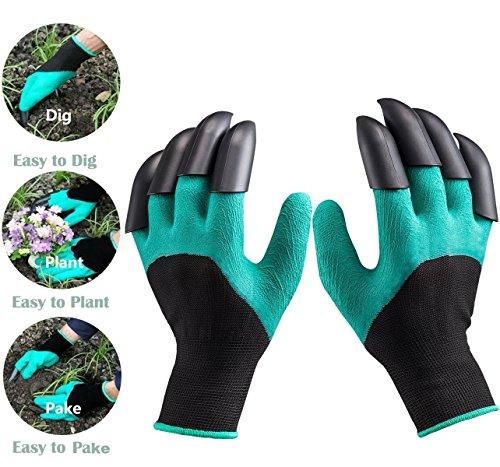 Garden Genie Gartenhandschuhe, Ariel-gxr Wasserdichte Garten Handschuhe, langlebig stichsichere Safe Gartenarbeit Handschuhe und Garten Werkzeug handschuhe mit Klauen zum Graben & Bepflanzen