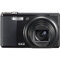 Ricoh CX2 Digitalkamera (10 Megapixel, 10-fach opt. Zoom, 7,6 cm (3 Zoll) Display, Bildstabilisator) schwarz