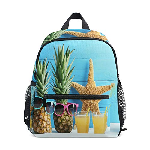 Preschool Schultasche Pineapple and Shoes with Sunglasses Little Kid Schultasches for Boys Girls