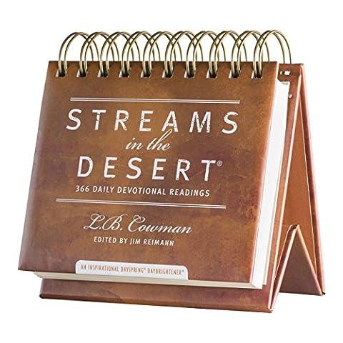 DaySpring Streams in the Desert, DayBrightener Perpetual Flip Calendar, 366 Days of Inspiration