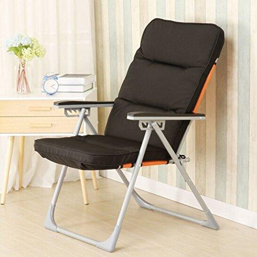 Einzelsessel, Freizeit Klappstuhl, Moderne Minimalistische Stuhl, Lounge Chair, (Farbe : SCHWARZ)