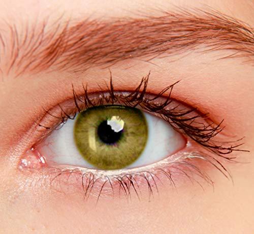 ELFENWALD farbige Kontaktlinsen, INTENSE KAMELBRAUN BRAUN, natürlicher Look, maximaler Tragekomfort, ohne Stärke, 1 Paar weiche Farblinsen, inkl. Behälter und Anleitung, 3 - Monatslinsen