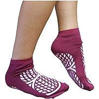 Aidapt Anti-Rutsch-Socken für Patienten, doppelseitig, Größe 7,5/9,5, Medium, Violett preisvergleich bei billige-tabletten.eu