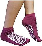Aidapt Anti-Rutsch-Socken für Patienten, doppelseitig, Größe 7,5/9,5, Medium, Violett
