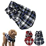 #7: Small-Size Dog Shirt, HP95(TM) Summer Dog Sweater Clothes, Cute Teddy Dog Cat Thin Sweater, Puppy Clothes Shirt (M (Length:13