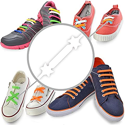 No Tie Laces - Kid Set - White - Best