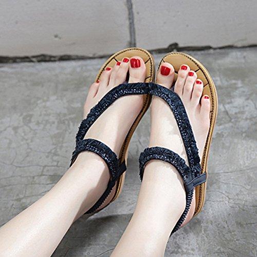 Sandales pour femme Soles légères d'été Outdoor Casual Casual Talon plat Marcher ( Couleur : 1001 , taille : EU40/UK7/CN41 ) 1001