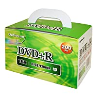 ‏‪Optimum DVD+R 16x 4.7GB / 120min Logo Top 200pk‬‏