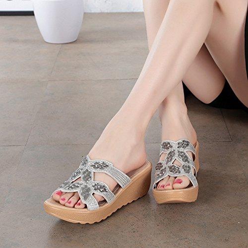 ZYUSHIZ Hausschuhe Sandalen Strand Outdoor der minimalistischen Stil koreanische Version Ding Schuhe 36EU