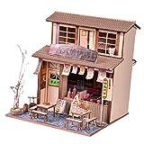 P Prettyia Chinesische Puppenhaus Miniatur Restaurant Kuchen Dollhouse Minipuppen Haus Jungen Mädchen Geschenk - BBQ Restaurant