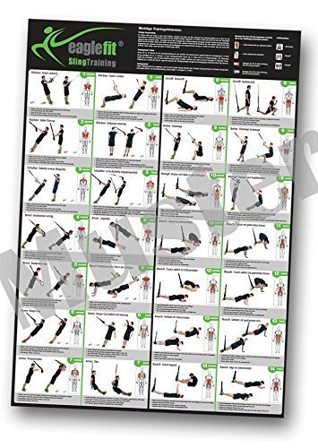 eaglefit® Sling Trainer Übungsposter / Trainingsposter mit 28 Übungen A1