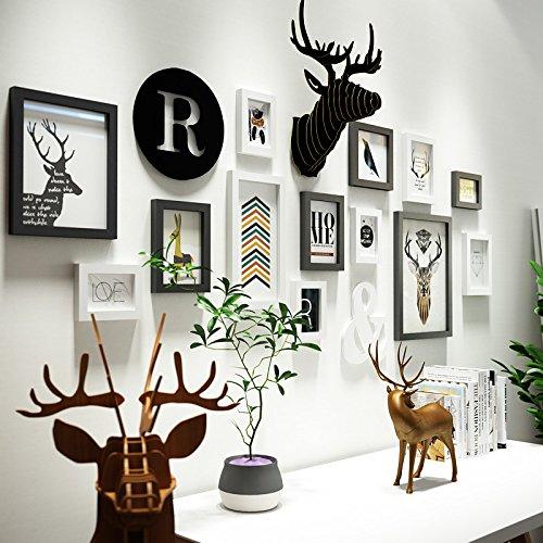 Preisvergleich Produktbild HJKY Photo Frame Wall Set Die Nordischen foto Wohnwand Wohnzimmer Wand Dekoration kreative Bilderrahmen eine Wand minimalistischen modernen Foto schwarz und weiss Kombination aus Wand ,0103