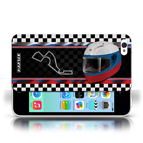 iCHOOSE Print Motif Coque de protection Case / Plastique manchon de telephone Coque pour Apple iPhone 5C / Collection F1 Piste Drapeau / AbuDhabi Russie/Sochi