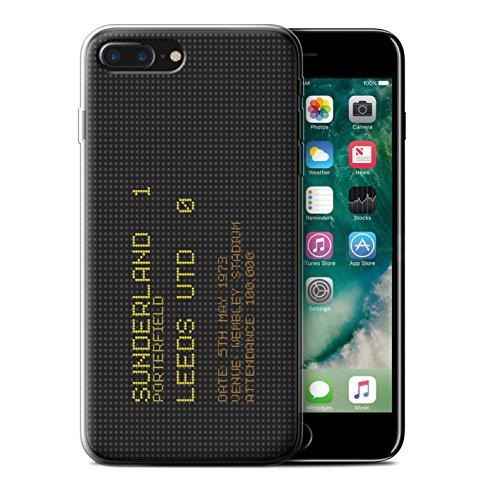 Offiziell Sunderland AFC Hülle / Gel TPU Case für Apple iPhone 7 Plus / Pack 6pcs Muster / SAFC Berühmte Fußball Ergebnis Kollektion 1973
