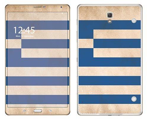 Preisvergleich Produktbild 'Royal Wandtattoo RS. Gartenschlauch selbstklebend für Samsung T705Tab S 8,4Motiv Flagge Griechenland