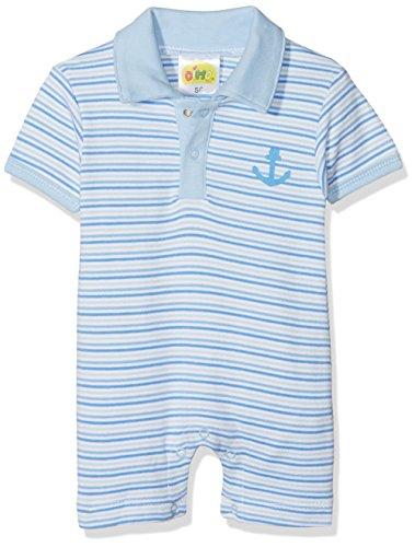 DIMO-TEX Baby-Jungen Spieler Kurzarmspieler Marina Boys Mehrfarbig (Blau Gestreift 6) 56