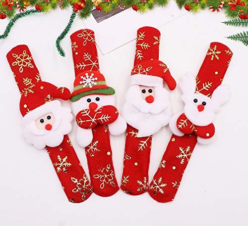 SUxian 12pcs Kinder Weihnachten Armband Santa Patting Kreis -