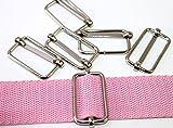 Verschieber-Regulatoren-Gurtschieber verchromt für Gurte/Bänder bis 30mm. 10 Stück.