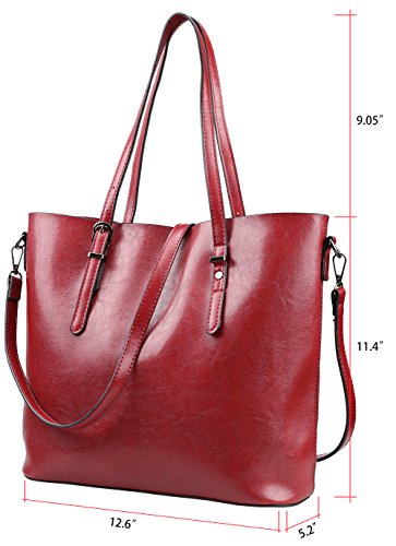 Magic Zone, Borsa tote donna grigio Gray Red