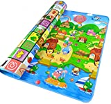 StillCool Kids Crawling Play Mat,2 Side Soft Foam Childrens Eductaional Toy (200x180x0.5cm) (Happy Farm)