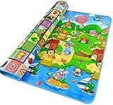 tapis de jeux pour Bébé 200x180cm,StillCool 2 côtés jouets en mousse souple pour enfants Eductaional