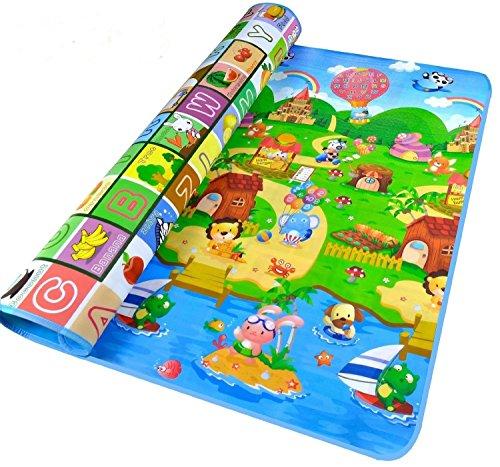 Alfombra de bebé 200x180x0.5cm, StillCool 2 lados juguetes Eductaional para niños, espuma...