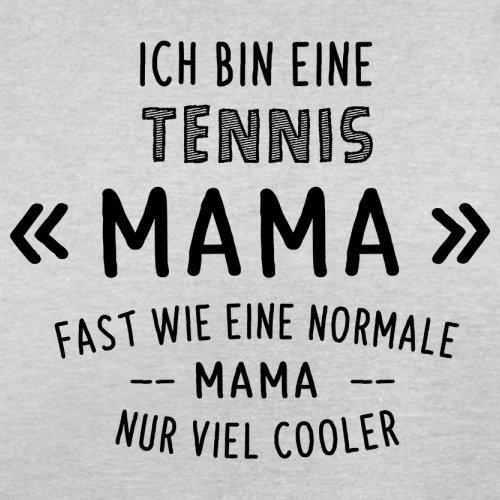 Ich bin eine Tennis Mama - Herren T-Shirt - 13 Farben Hellgrau