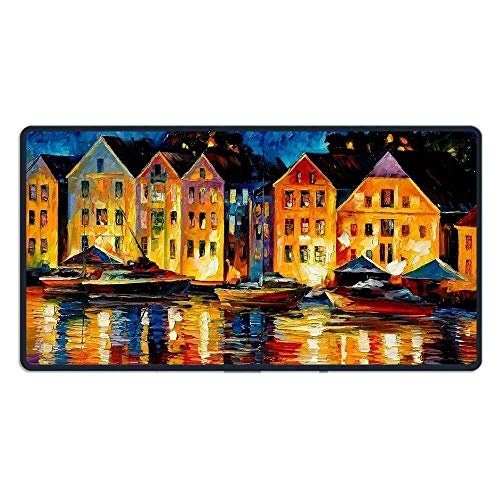 hanbaozhou Fußmatten Large Mouse Pad Night Resting Computer Mouse Mat (29.5x15.7x0.1IN,75x40CM) -