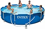 Intex Piscine hors-sol cadre métal avec épurateur 366 x 76 cm