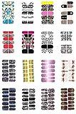 10 Bögen 12x Nagelfolie Selbsklebend Nail Art Folie Nail Foil Stripes Aufkleber